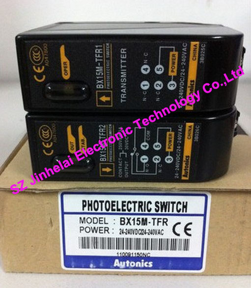 100% New and original  BX15M-TFR  AUTONICS  PHOTOELECTRIC SWITCH new and original e3x da11 s omron optical fiber amplifier photoelectric switch 12 24vdc