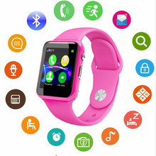 Купить с кэшбэком HOT Bluetooth Smart Watch A1S Support SIM TF Cards For Android IOS Phone Children Camera Women Bluetooth Watch With Russia