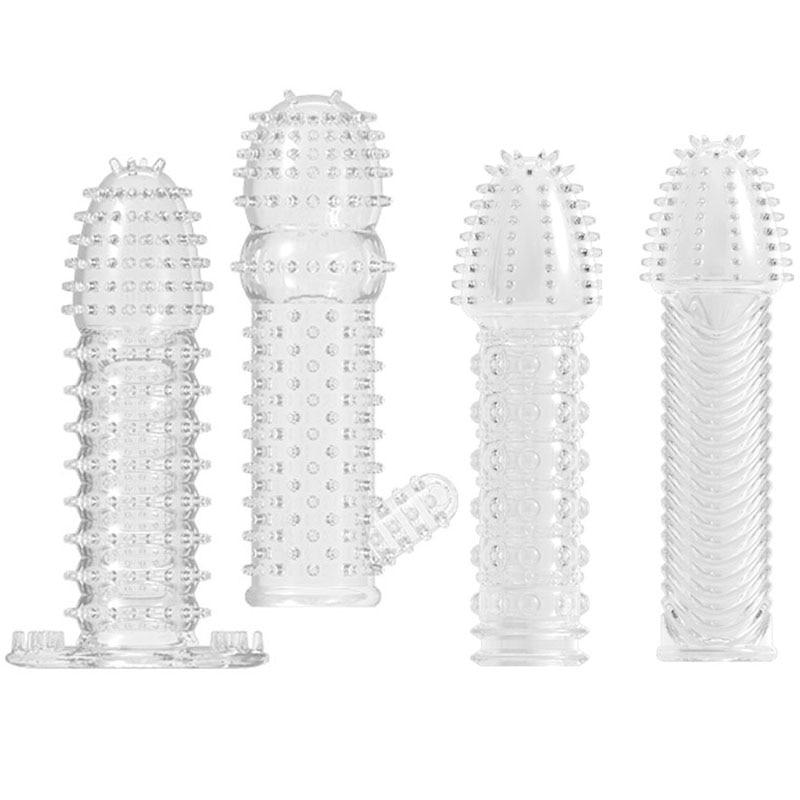 hc038Penis Sleeve Male Extensions Enlargement condoms (31)