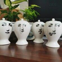 Jar Vase-Decor Home-Decoration-Accessories Ceramic Flower-Pot Small Mini Cute European