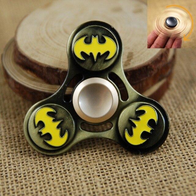 Metal Fidget Spinner Ironman Spiderman Captain America Hand Spinner Toy Finger Spinner Anti Stress for ADHD Fidget Spiner Toys
