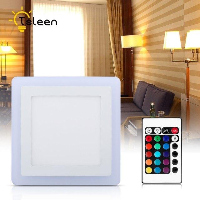 TSLEEN RGB LED בקר מודרני LED תקרת אורות למיטה 110 V 220 V 85-265 V חדר סלון מנורת תקרת LED פנל אור