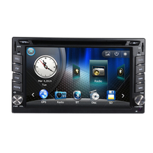 In stock Wince 6.0 Universal 2 Din Car DVD Player GPS navigation with 6.2 inch Touch Screen RDS Bluetooth Steering Wheel