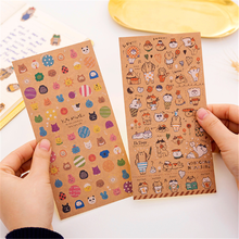 1pack/lot Japanese kraft paper cat sticker Decorative Stickers Scrapbooking DIY Diary Album Stick Label Gift for Party