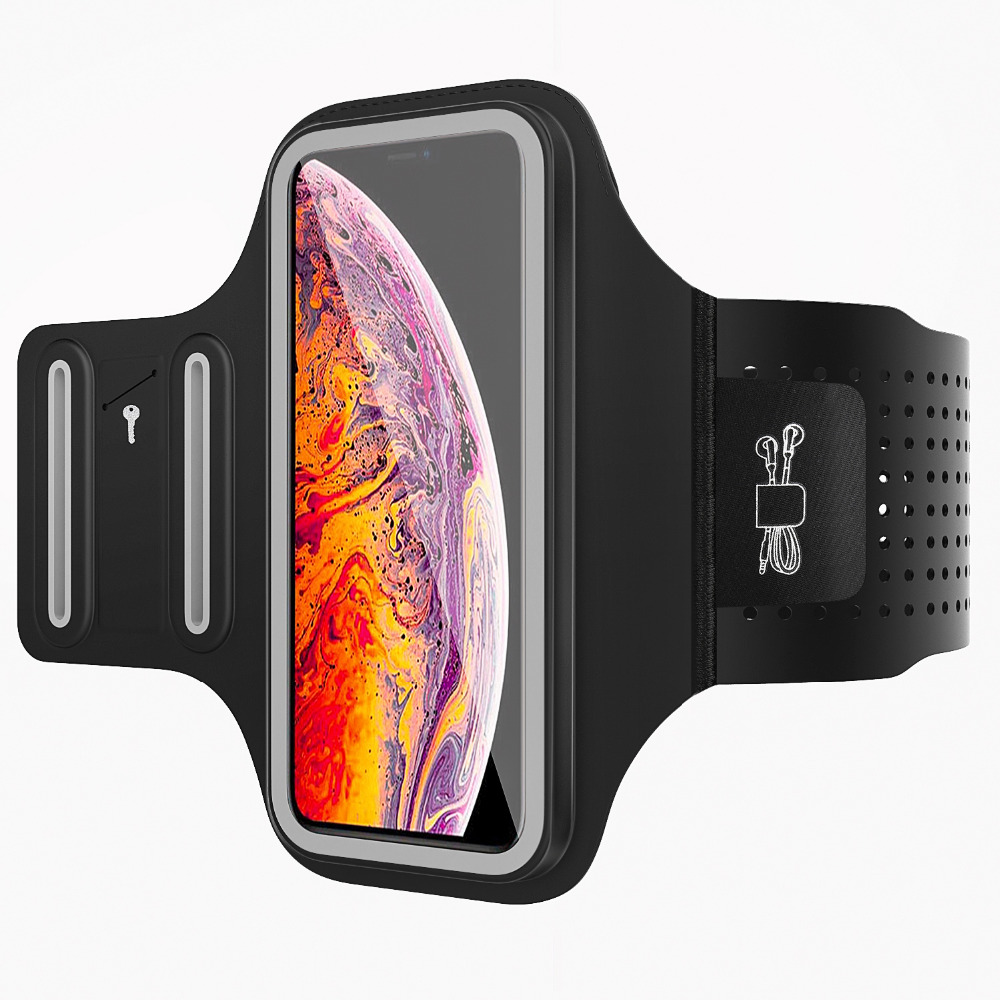 MoKo 3D Cellphone Running Armband,Water Resistant Phone Case Pouch With Key Holder For Gym Jog Fitness Workout For IPhone X/Xr