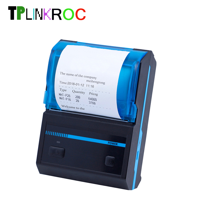 Newly Mini 58mm Thermal Printer Bluetooth Android Thermal POS Receipt Printer Portable USB Printer Bill Machine For Supermarket rj45 pos thermal receipt printer 58mm 589tl lan port bill printing machine for supermarket quality slip printer hot sale