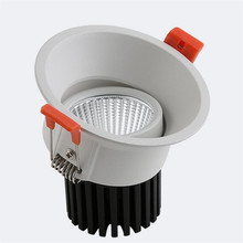 High quarlity 12W Dimmable COB LED Downlight AC110V/AC220V/AC85-265V Down Light Recessed Bulbs
