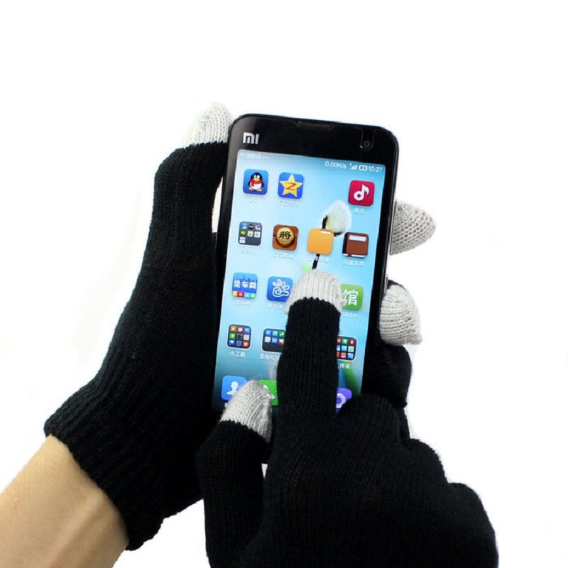 2 Pairs Womens Winter Warm Cable Knit Gloves Phone Texting Touch Screen Mittens