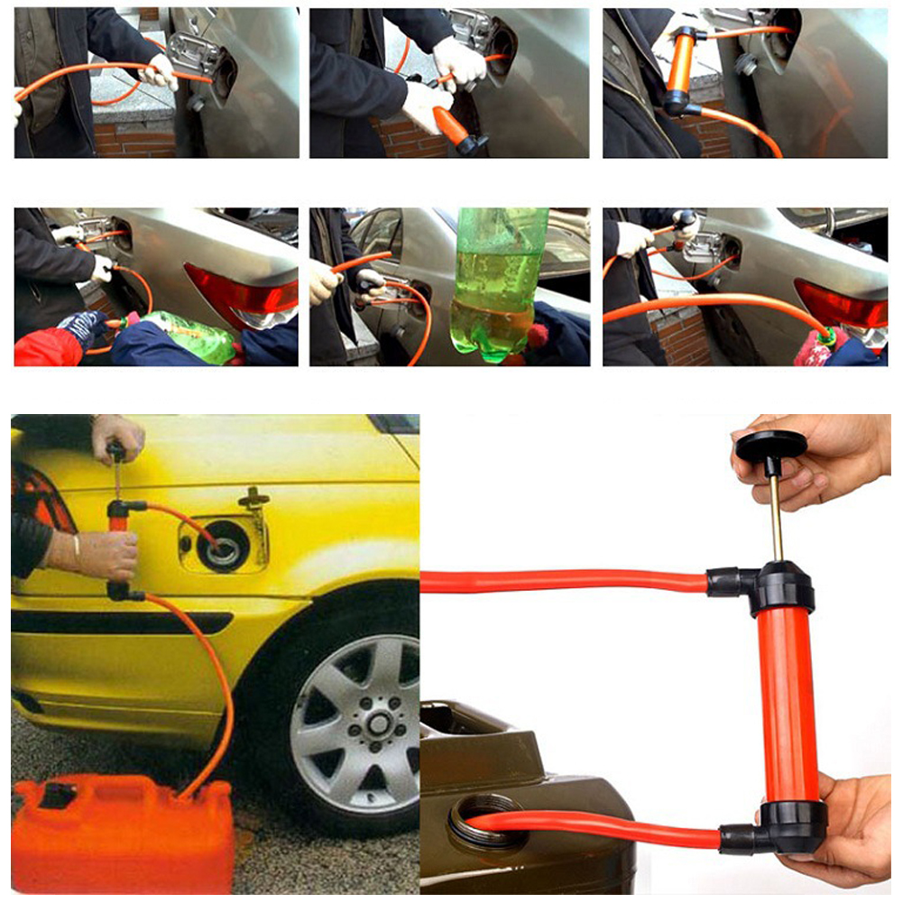 Vodool 1pc Portable Manual Oil Pump Hand Siphon Tube Car Hose Liquid Gas Transfer Sucker Suction High Quality Inflatable Pump Travel & Roadway Product