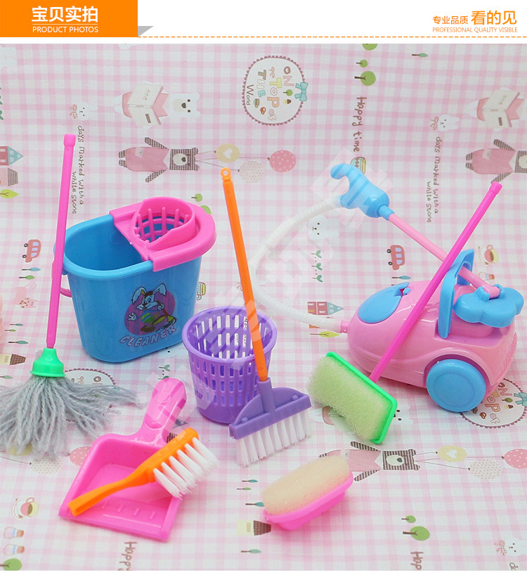 Free Delivery,doll furnishings clear set 9pcs doll equipment for Barbie Doll,woman play home