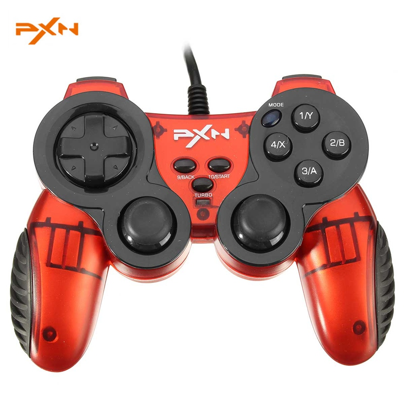 PXN 2901 Original USB Wired Game Pad Double Shock Turbo Function Gaming Controller Joystick for PC