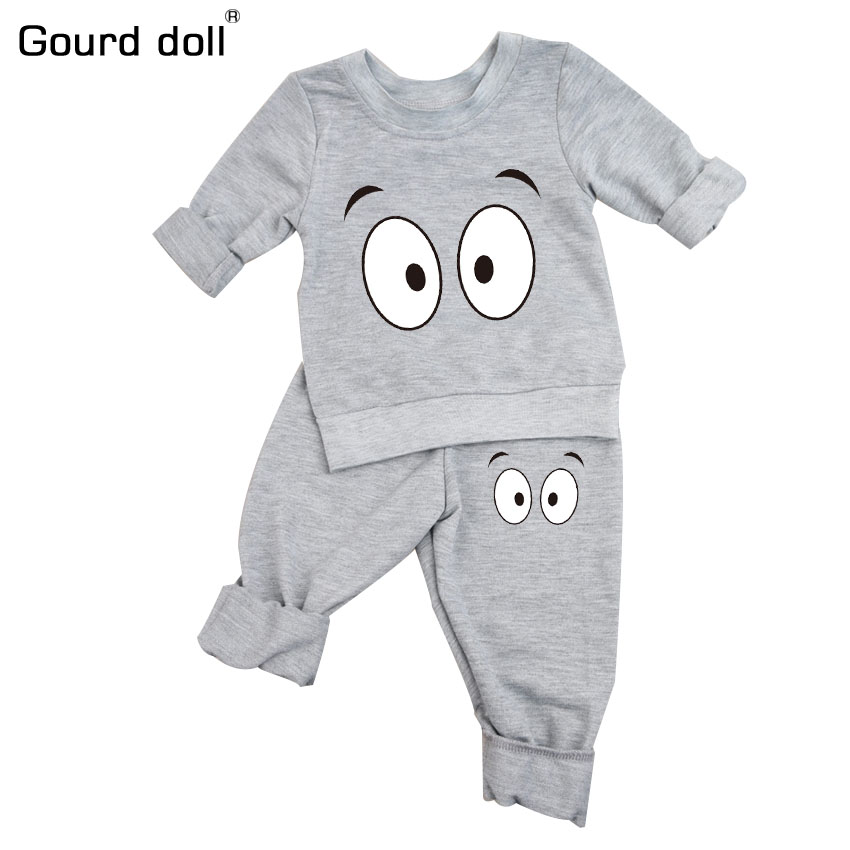 Infant Baby Clothing Sets Boy Long Sleeve T-shirt+Pant Kids Spring Autumn Outfits Set Toddler Monster Suits Baby Girls Clothes 2pcs baby boy clothing set autumn baby boy clothes cotton children clothing roupas bebe infant baby costume kids t shirt pants