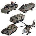 BOHS 5 pcs Mini Carro Terno Militar Helicóptero Do Tanque de Brinquedo Modelo Do Veículo Blindado, 5 pcs