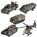 BOHS 5pcs Mini Car Military Suit Helicopter Tank Armored Vehicle Model Toy, 5pcs