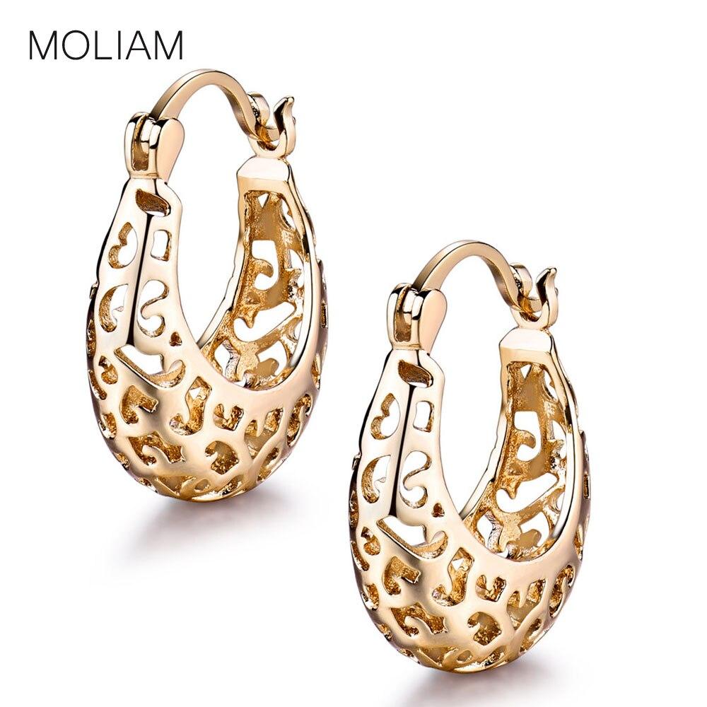 2aa9c286722e MOLIAM diseño hueco aro pendientes para las mujeres prometo señora boda  cierre pendientes de venta directa de fábrica de MLE422