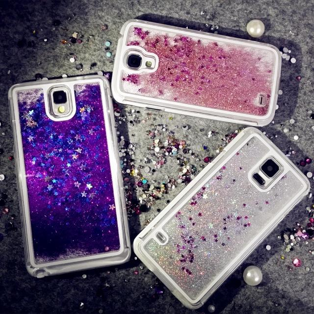 online retailer 6f8ef 2aec1 US $6.98 |S4 i9500 Drift Sand glitter waterfall case for Samsung galaxy  Note4 N9106 flow sand liquid phone plastic hard back cover shell on ...