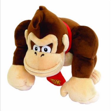 "9.5"" Super Mario Bro Donkey Kong Plush Stuffed Doll Toy Kid Anime toy Free ship"