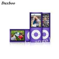 Daxboo 10 unids/lote delgado 4to jugador mp4 8 GB 9 Colores para elegir La Música tiempo de reproducción 30 Horas de radio fm reproductor de vídeo Gratuito gratis