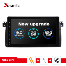 Josmile Car Multimedia Player 1 Din Android 9.0 For BMW E46 M3 Rover 75 Coupe Navigation GPS DVD Car Radio 318/320/325/330/335 silverstrong 1024 600 9 android7 1 quad core 1din car dvd for bmw e46 318 325 320 car gps dab m3 3series with navi radio