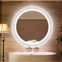 20 24 28 светодио дный led зеркало анти туман свет зеркало стекло Настенные светильники серебряное зеркало со светодио дный подсветкой круговы