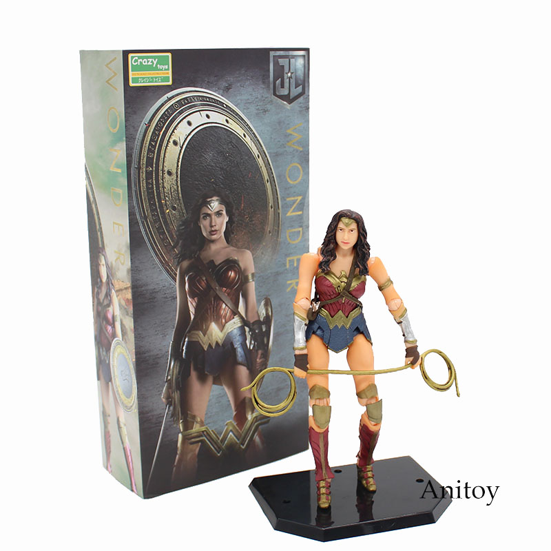 Wonder Woman Variant Action Figure 1/12 scale painted PVC Action Figure Collectible Model Toy 16cm KT3785 lighting statue superman batman wonder woman lights avengers joker harley naruto aliens pvc action figure collectible model toy