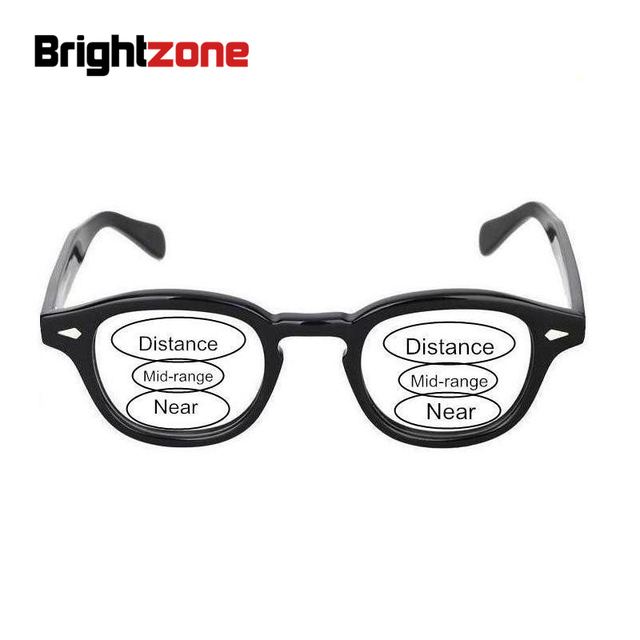 b28208d64e Complete Glasses  Bestseller brand Johnny Depp Lamitoqu Unisex Acetate  Optical Prescription Glasses + No-line Progressive Lenses