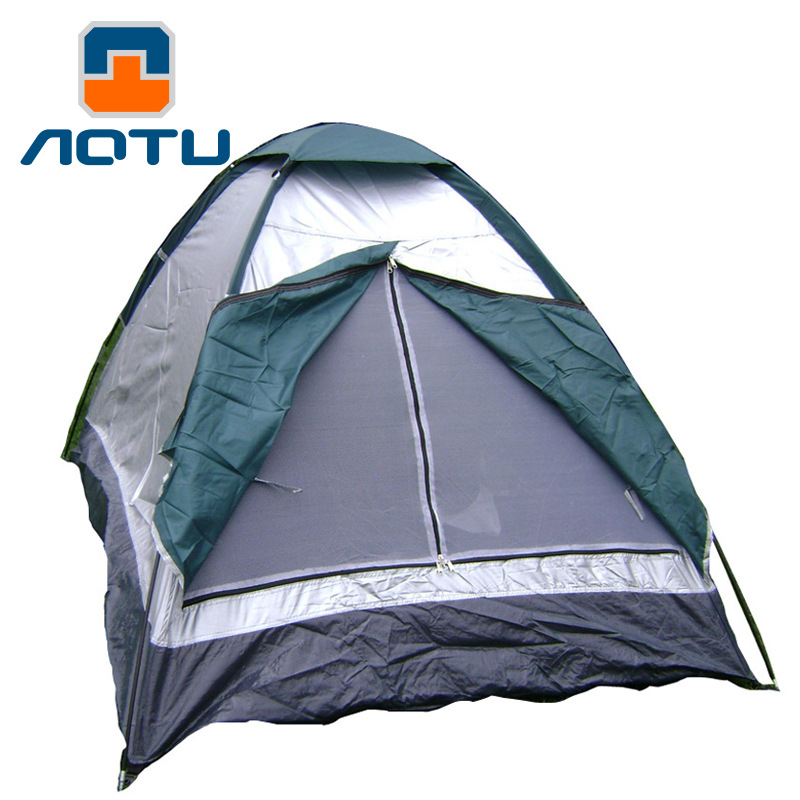 1-2 Person a Single Layer Double Tent Waterproof Tents Outdoor Camping Tent At6506 wnnideo outdoor automatic tent single double person wind rain resistant fishing camping traveling tents gray