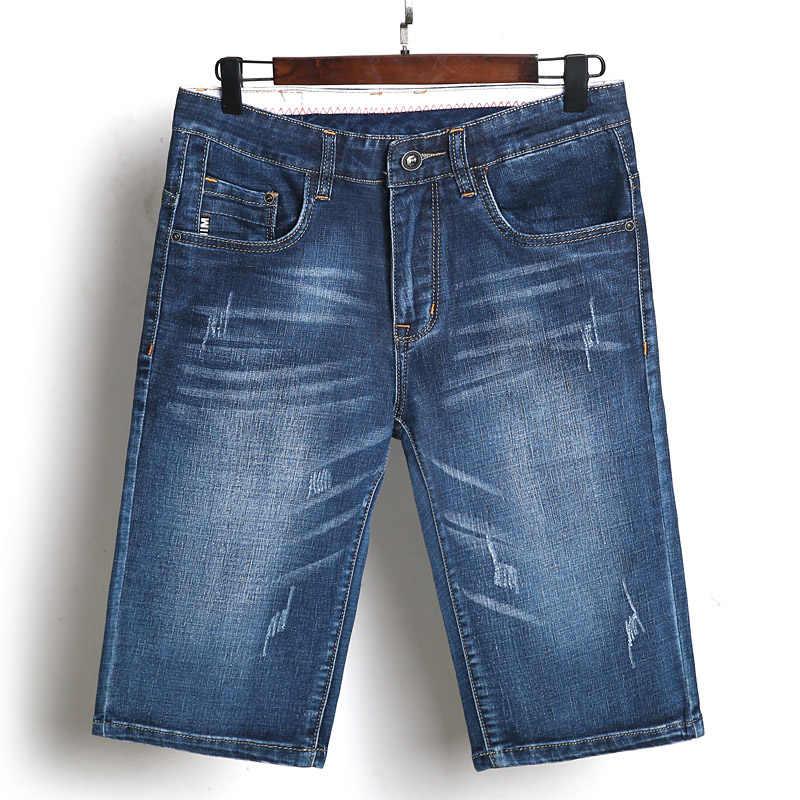 Pantalones cortos elásticos informales hasta la rodilla para Hombres estilo clásico de ropa de calle Demin