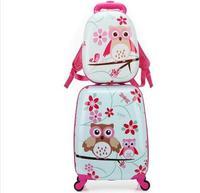 Дети комплект дорожных чемоданов Spinner чемодан для малыш тележка чемодан для багажа на колесиках для девочек колесный чемодан сумка тележка ...