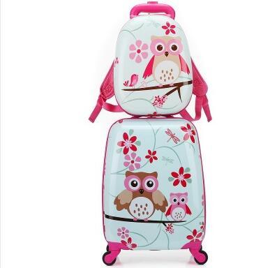 子供旅行荷物セットスピナースーツケース用子供トロリー荷物ローリングスーツケース用女の子輪スーツケーストロリーバッグ用男の子  グループ上の スーツケース & バッグ からの キャスターバッグ の中 1