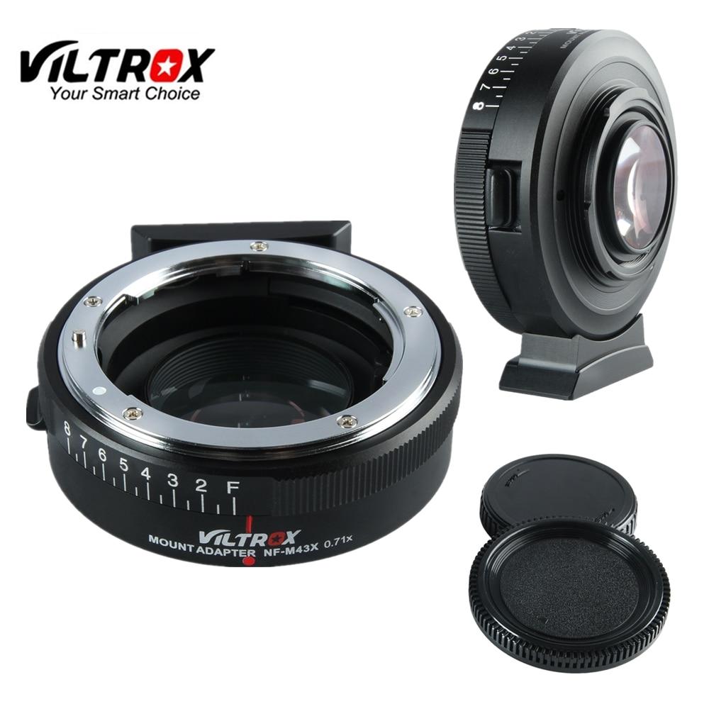 Viltrox NF-M43X Focal Réducteur Vitesse adaptateur d'amplificateur Turbo w/Ouverture pour Nikon Lens pour M4/3 caméra GH4 GH5GK GH85GK GF7GK GX7
