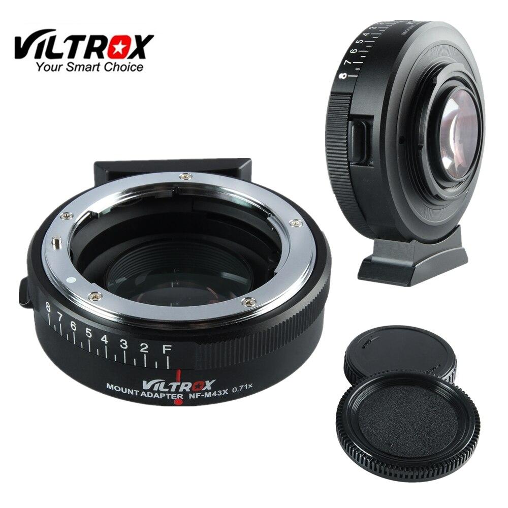 Viltrox NF-M43X réducteur de focale adaptateur de vitesse Turbo avec ouverture pour objectif Nikon vers appareil photo M4/3 GH4 GH5GK GH85GK GF7GK GX7