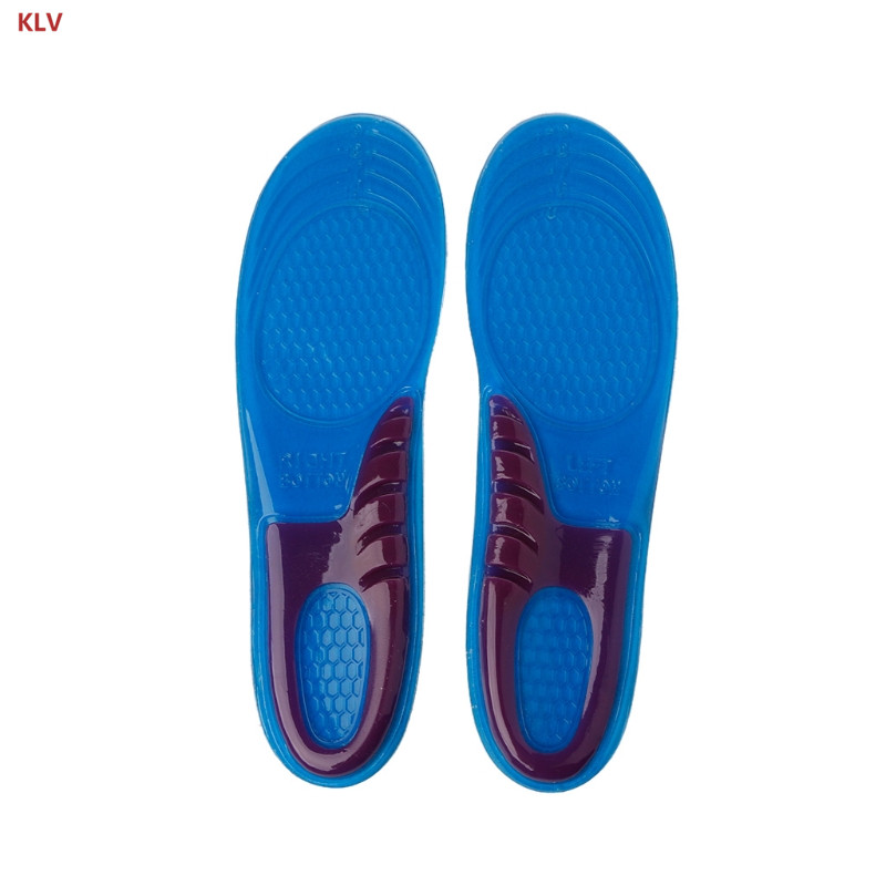 KLV Women Damping Insole Silicone Gel Orthotic Arch Support Massaging Sport Shoe Insole Run Pad free shipping 1 pair unisex sport insole gel massaging insole arch support orthopedic plantar fasciitis running silicone insole