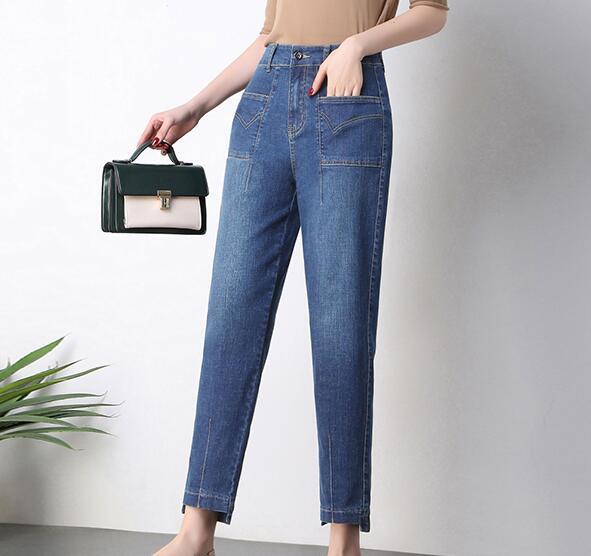 Harem Las Jeans Pantalones Tamaño P1 p2 Moda Sueltos De Primavera p3 Mujeres Akd0902 Alta Otoño Mezclilla Casual Nueva Plus Cintura AnwqItP8xx