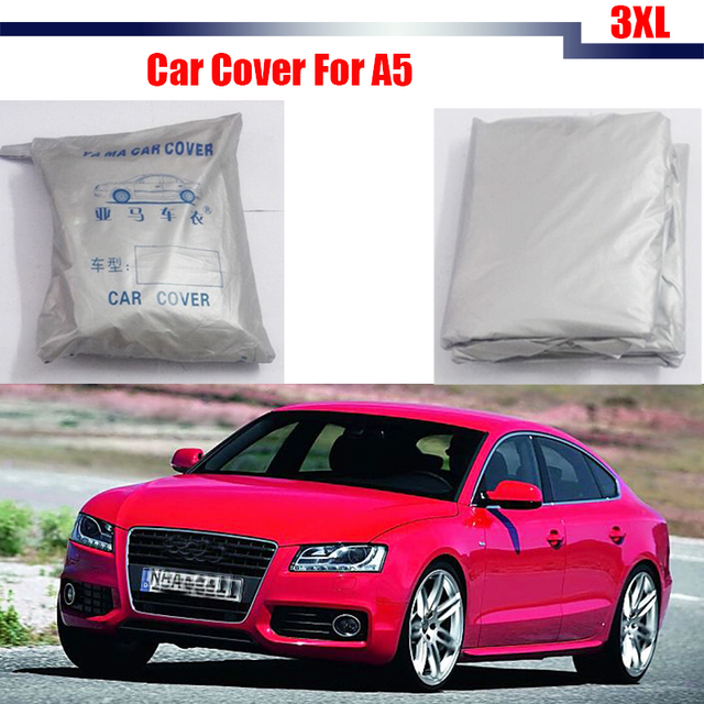 Full Car Cover Snow Rain Sun Resistant Cover Sun Shade Anti UV For Audi A5 High Quality !