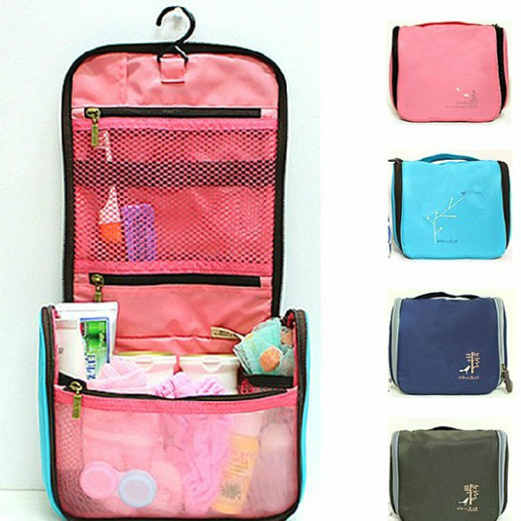 d1a1be1376 hinzi Katoh waterproof portable cosmetic bag Hanging Toiletry travel  organizer bags in Wash makeup bag Case for women