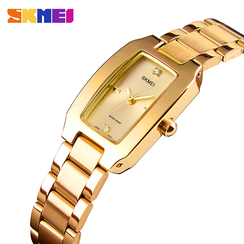 SKMEI Luxury Brand Women Watches Diamond Dial Bracelet Wristwatch For Girl Elegant Ladies Quartz Watch Female Dress Watch 1400 цена