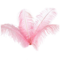 10 pcs Natural Ostrich Feathers Wedding Party Decoration Pink 20-25cm