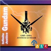 Car Sticker Japanese Cartoon Fans SEED JUSTICE GUNDAM GMF-X09A Vinyl Wall Stickers Decal Decor Home  Decoration