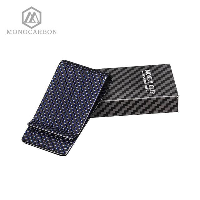 Carbon Fiber Money Clip – Blue
