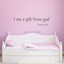 English Quote Vinyl Wall Decal Home Stickers I Am a Gift from God For Baby Room Decor Nursery Decoration