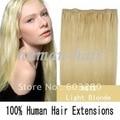 """20 """" ( 50 cm ) de comprimento Natural indiano cabelo remy PU pele trama 36 """" ( 92 cm ) de largura 55 grama # 613 loiro cor"""