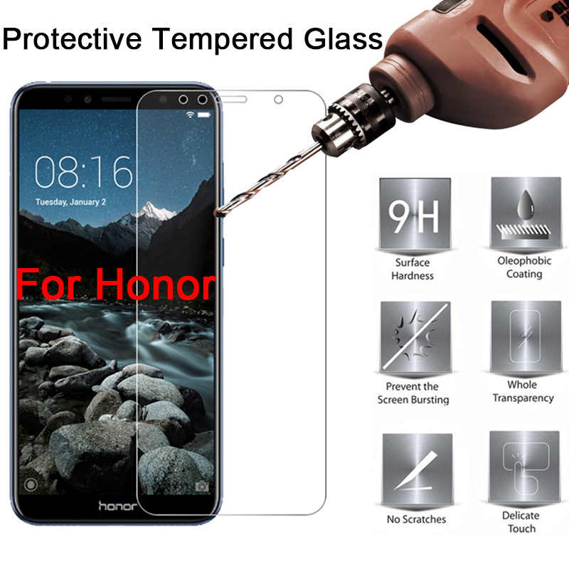 "Protective Glass on Honor 7A 7C Pro Tempered Glass for Honor 7A DUA L22 5.45"" Screen Protector for Honor 7C AUM L41 5.7 inch"