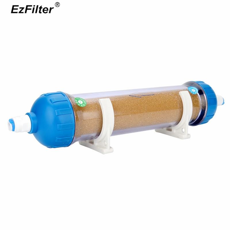 10 Softening Resin Filter Refillable Housing Clear RO Ion exchange Resin Filter Cartridge 4PCS 1 4