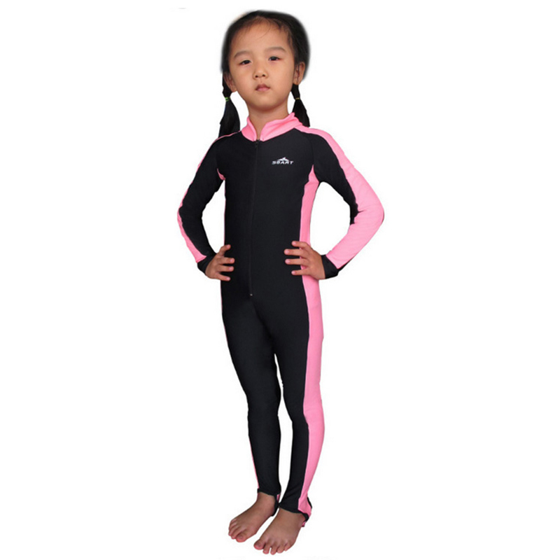 Kids Swimsuit Sun Protective Diving Suit For Boys Girls elasticity Wetsuit  for Children Solid Kids UPF50+ Full Body Diving Suits 12f73d991