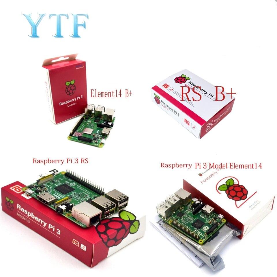 オリジナルラズベリーパイ 3 モデル B + プラスボード 1 ギガバイト LPDDR2 BCM2837 クアッドコア Ras PI3 B 、 ras パイ 3B 、 Ras パイ 3 B 無線 lan & Bluetooth  グループ上の パソコン & オフィス からの デモボード の中 1