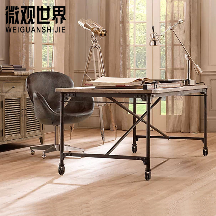 wrought iron and wood furniture. Loft American Country Exports Of Solid Wood Furniture Wrought Iron Rivets Tables Desk Tablein Dining From On Aliexpresscom And I