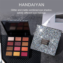 Waterproof Shimmer Eyeshadow Palette12 Colors Eye Shadow Makeup High Pigmented Eyes Festival Cosmetics Women Make Up