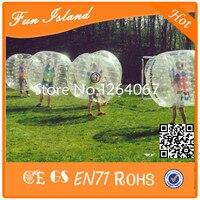 Бесплатная доставка Ясно 1.2 м ТПУ Материал надувные сумасшедший Мячи пузырь Футбол человеческий Бурлящий шарик для детей