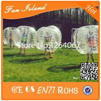Free Shipping Clear 1.2M TPU Material Inflatable Crazy Footballs Bubble Soccer Human Bubble Ball For Kids